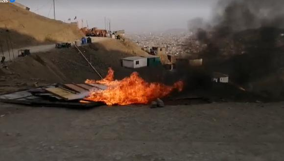 Los vecinos indicaron que van a proceder a quemar las chozas abandonadas como medida de prevención y protesta contra la delincuencia