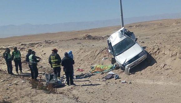 Empresario fallece en vuelco de automóvil cuando viajaba de Arequipa a Tacna