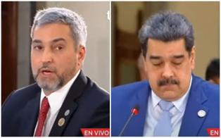 """Presidente de Paraguay encara a Nicolás Maduro en cumbre CELAC: """"Mi presencia no significa reconocimiento"""" (VIDEO)"""