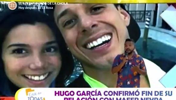 Natalie Vértiz y Choca lamentaron la ruptura de Hugo García y Mafer Neyra. (Foto: Captura de video)