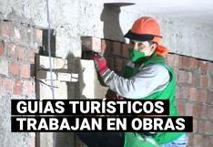Guías de turismo ahora se desempeñan como obreros de construcción en Machu Picchu (VIDEO)