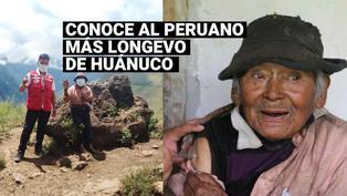 Adulto mayor de 121 años fue vacunado contra la COVID-19 en Huánuco
