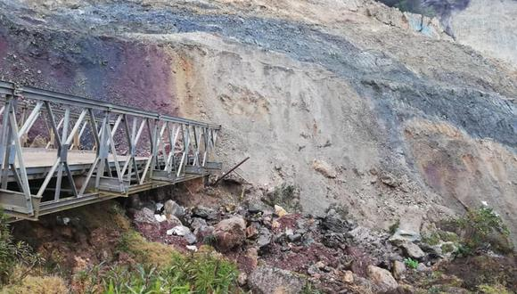 Huánuco incomunicado con provincias altoandinas. Foto: Difusión
