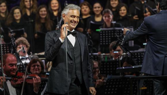 """Andrea Bocelli anunció el lanzamiento su nuevo álbum """"Believe"""". (Foto: Chamoun Daher/AFP)."""