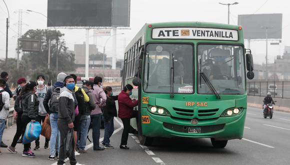Subsidio busca aliviar el impacto económico originado por la emergencia del COVID-19 para el transporte público. (Foto: Ángela Ponce)