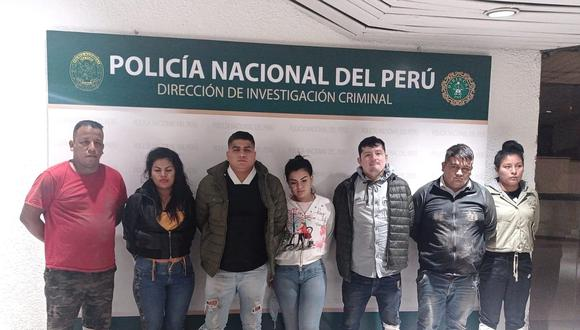 Los detenidos son investigados en la Dirección de Investigación Criminal (Dirincri). (Foto: PNP)