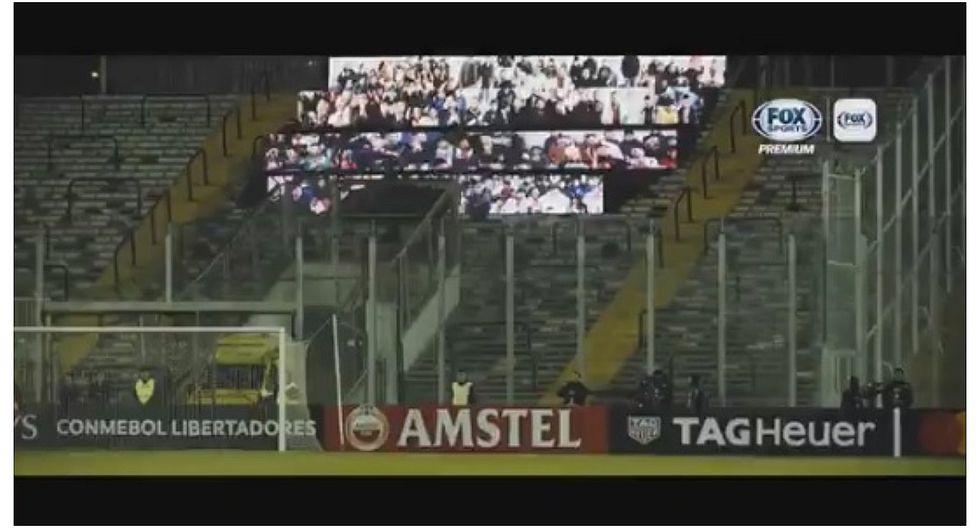 Copa Libertadores: Palestino contó con hinchas virtuales en partido ante River Plate (VIDEO)