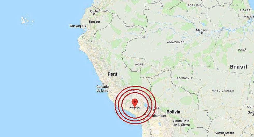 Arequipa: sismo de magnitud 3.4 se registró en Caylloma