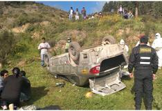 Junín: Niño de 12 años fallece al volcar vehículo en el que habría estado solo, en Tarma