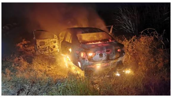 Se hicieron pasar como falsos pasajeros y encañonaron al conductor del colectivo que cubra la ruta Cartavio-Trujillo. Luego, se llevaron el automóvil para prenderlo fuego cerca al puente Nazareno.