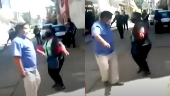 Mujer se recupera de COVID-19 y baila huayno con su médico como agradecimiento