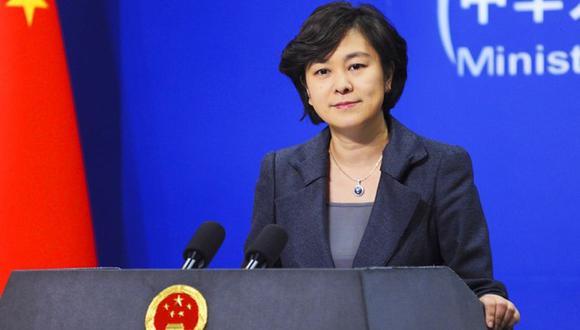 Imagen referencial de Hua Chunying. (Foto: Cortesía Ministerio de Exteriores de China)