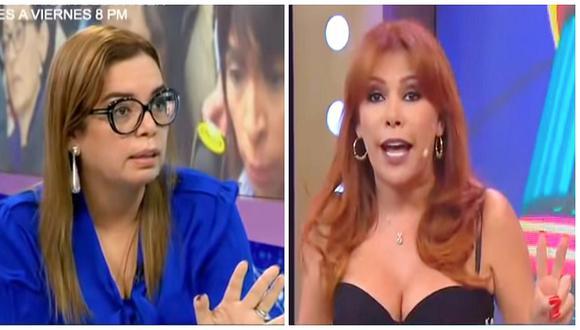 Magaly Medina y Milagros Leiva fueron suspendidas tras pelearse en televisión