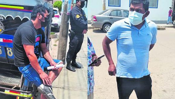 Los interceptaron cuando salían de una obra en la cuadra 01 de la calle Manuel Sosa del pueblo joven Santo Domingo.