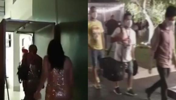 Los detenidos aseguraron que no se encontraban participando en una fiesta, sino que estaban en el lugar como parte de la grabación de una videoclip.