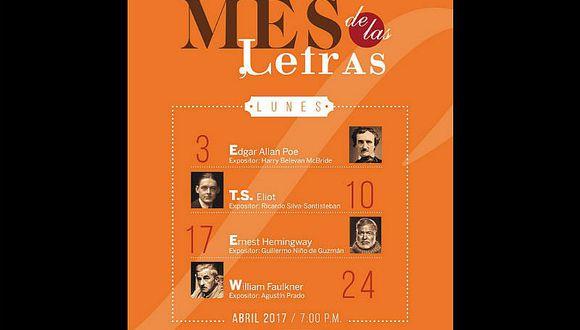 Miembros de la Academia Peruana de la Lengua rendirán homenaje a escritores