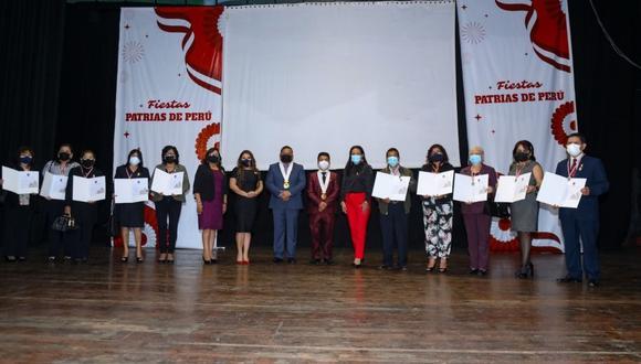Municipalidad Provincial de Trujillo les realizó un merecido homenaje por su trayectoria fructífera formando nuevas generaciones.