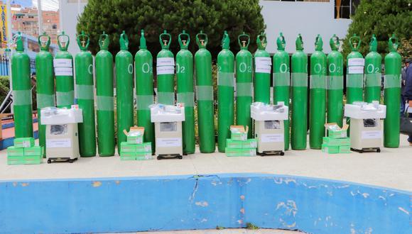A cada municipalidad distrital se entregó 5 balones y un kit completo. (Foto: Feliciano Gutiérrez)
