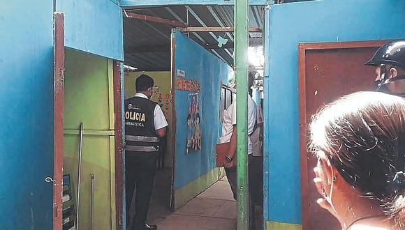 Delincuentes roban computadoras en colegio de Bernal