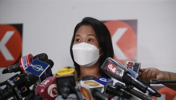 """Keiko Fujimori se refirió a la decisión de Pedro Castillo de pedir garantías a la Defensoría del Pueblo como """"poco creíble"""". (Foto: Hugo Perez / @photo.gec)"""