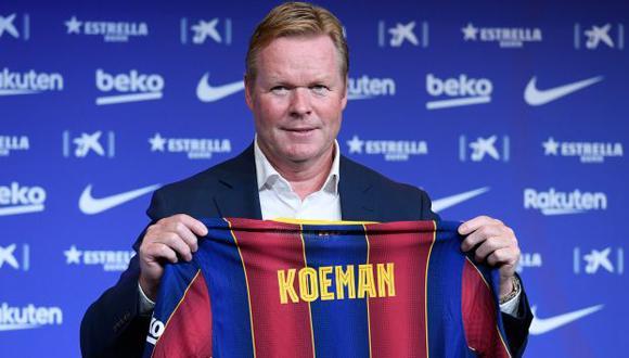 Ronald Koeman firmó contrato con el Barcelona por dos años. (Foto: AFP)