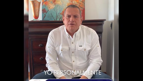 Guillermo Miranda se pronunció a través de un video publicado en Facebook. (Foto: Captura Digital TV Noticias)