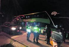Por falta de pruebas antígenas intervienen bus a punto de partir a Lima con 30 pasajeros