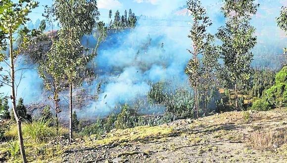 Según el COER, hasta en 500% se ha incrementado el número de incendios en la región Áncash.