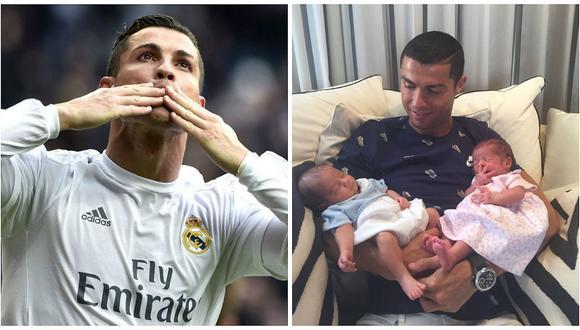 Cristiano Ronaldo presenta a sus gemelos Mateo y Eva con emotiva foto