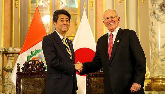 PPK suscribió acuerdos bilaterales con primer ministro japonés