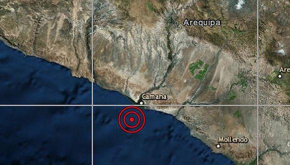 Sismo de 4 grados de magnitud remece Camaná-Arequipa