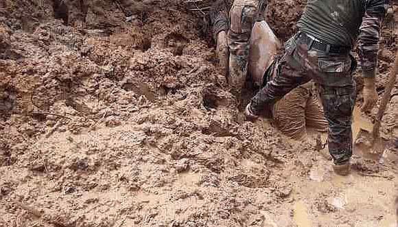 Rescatistas hallan cadáver de ciudadano de Juanjuí sepultado por huaico en Tingo María