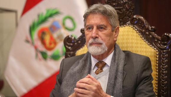 El presidente Francisco Sagasti fue denunciado por excongresista César Gonzales Tuanama. (Foto Twitter @presidenciaperu)