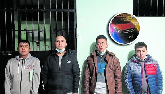 Presuntos delincuentes interceptaron un camión y despojaron de sus pertenencias a los ocupantes, para luego fugar, pero los atrapan.