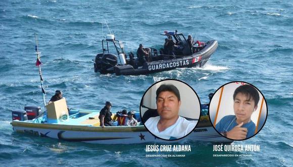 Cuatro tripulantes cayeron al mar, pero solo dos pudieron ser rescatados. Los familiares piden no cesar en la búsqueda.