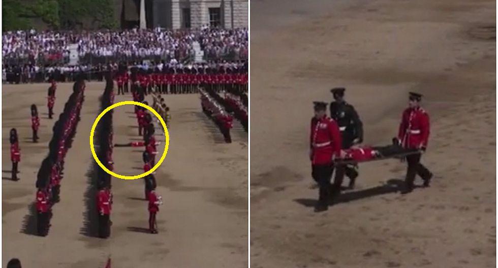 Guardia se desmayó en pleno desfile por cumpleaños de la Reina Isabel II (VIDEO)