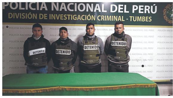 Cuatro sujetos con armas de fuego pretendían robar 15 mil soles al chofer de carro de una ferretería.