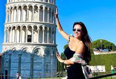 """Rosángela Espinoza tras conocer la Torre de Pisa en Italia: """"Es impresionante"""" (VIDEO)"""