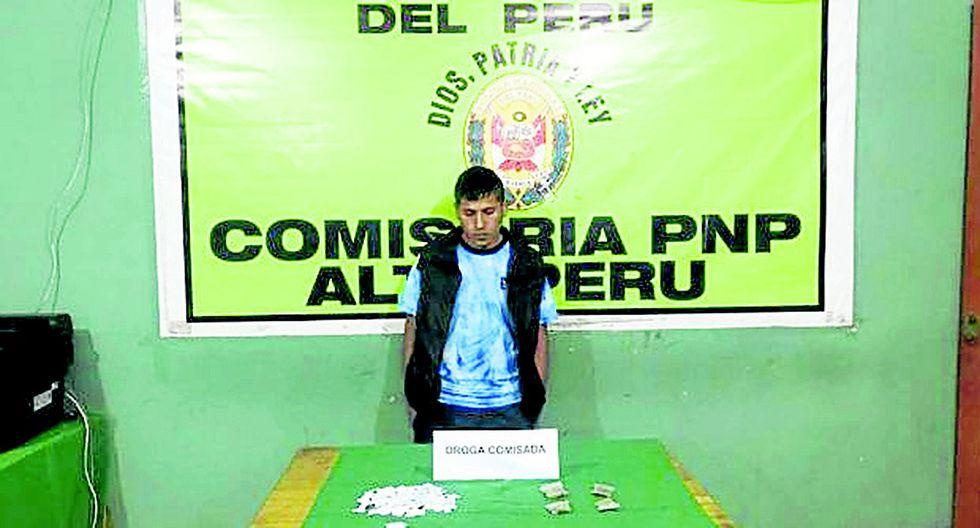Intervienen a joven que vendía droga en una cabina de internet