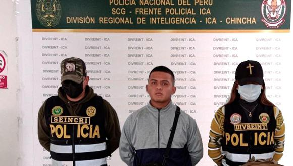 """Cae alias """"brasileño"""" con cerca de un kilo de pasta básica de cocaína en Chincha."""