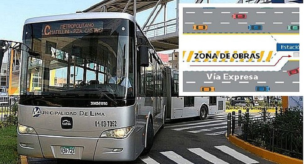 Metropolitano: desde mañana servicio desviará su recorrido por obras