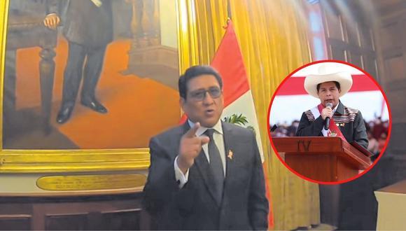 El parlamentario precisa que hay falta de coordinación y divergencias en el partido Perú Libre que afectan al país.