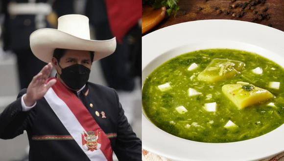 El almuerzo por el Bicentenario del Perú que se realizó en Centro de Convenciones de San Borja, consistió en un exquisito caldo verde, espesado y quesillo.