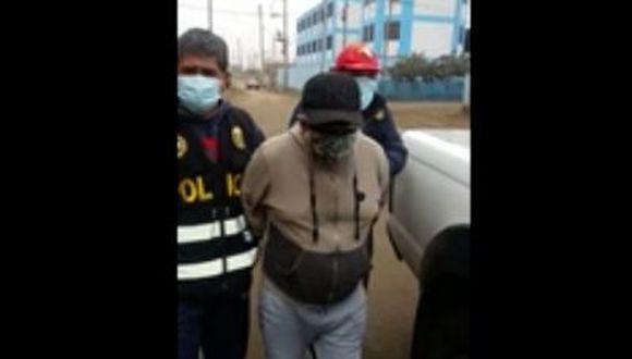 El detenido se ocultaba en la casa de unos familiares. (Captura de video)