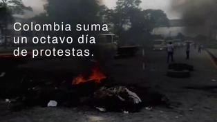 Continúan las protestas y la violencia policial en Colombia