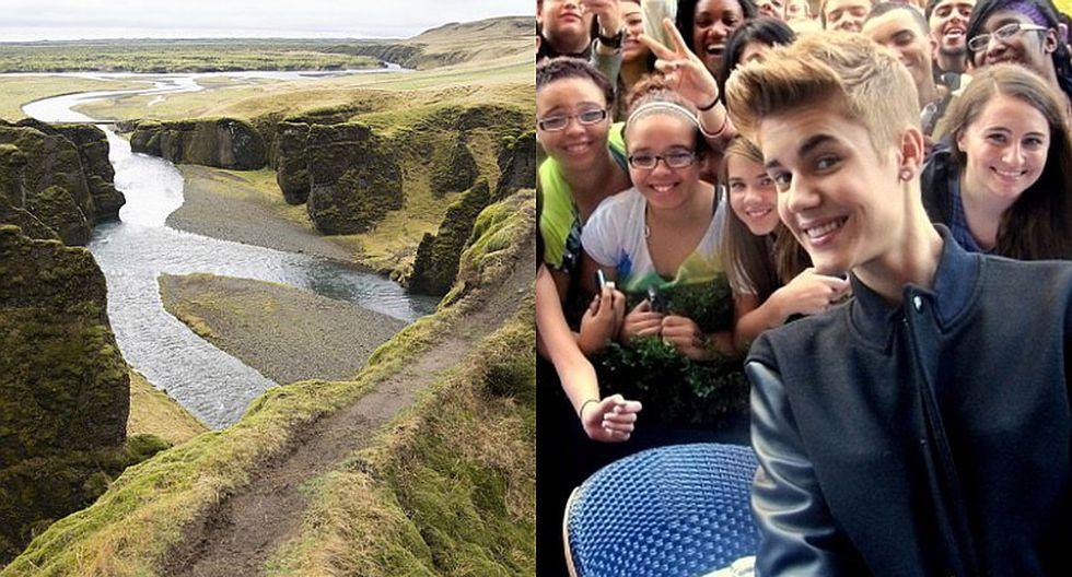 Miles de 'fans' tratando de imitar un video de Justin Bieber causa el cierre de un cañón en Islandia