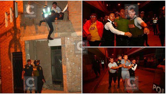Detienen a policía por disparar a dos vecinos en San Juan de Lurigancho (FOTOS)