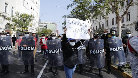 PNP emitió comunicado previo a marcha de este sábado (Foto: Renzo Salazar/GEC)