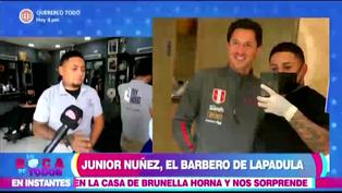 Barbero oficial de la selección peruana le cortó el cabello a Gianluca Lapadula
