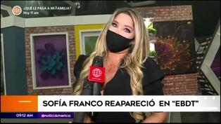 Sofía Franco hace su reaparición como conductora de 'En boca de todos'